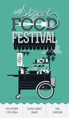 Retro  Street food festival — Stock Vector