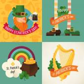 Saint Patrick's day design items. — Stock Vector