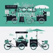 Street food festival event — Vector de stock
