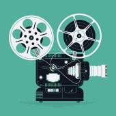 Cool retro movie projector — Stock Vector