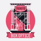 Theater tickets booth window — Stock Vector