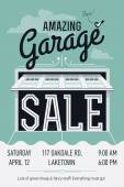 Garage or yard sale event — Stock Vector