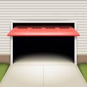 Empty garage background — Stock Vector
