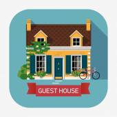Beautiful guest house — Stock Vector