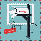 Gelen yazışma ve posta teslimi — Stok Vektör