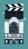 Banner or poster design on cinema — Stock Vector