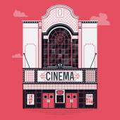 Movie film theater building — Stock Vector