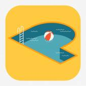 Water swimming pool — Stock Vector