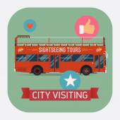 City visiting bus — Stock Vector
