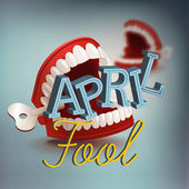 April fool's day concept — Stock Vector