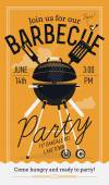 BBQ, barbecue party flyer — Stock Vector