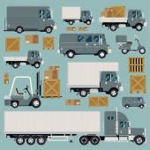 Commercial transport items — Stock Vector