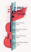 Classical music festival poster — Stock Vector