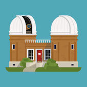 Science Observatory building — Stock Vector