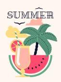 Banner on summer season — Stock Vector