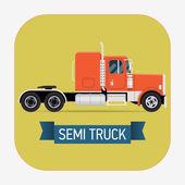 Cool semi truck — Stock Vector