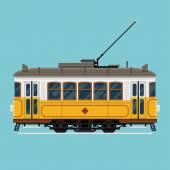 Lovely retro detailed tram car — Stock Vector