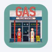 Gas filling station icon — Stock Vector