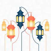 Beautiful   Ramadan lanterns — Stock Vector