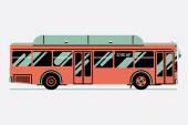 Retro   city bus — Stock Vector