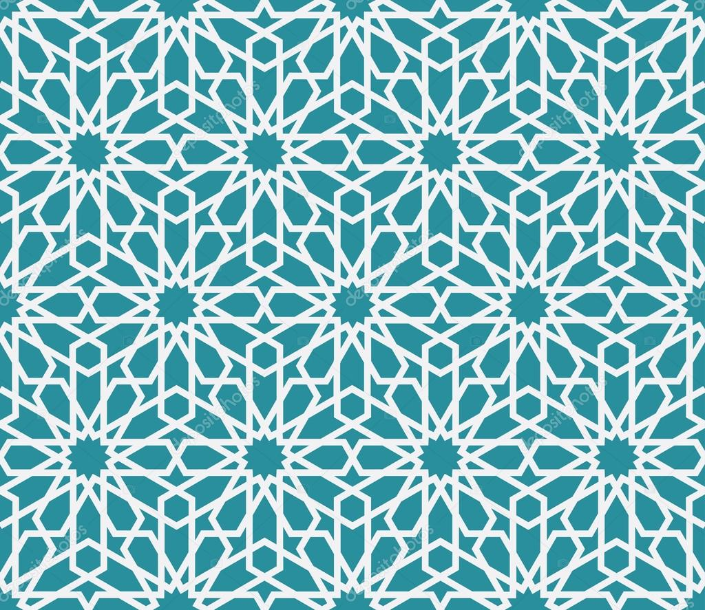 Traditional Arabic Pattern Background Stock Vector