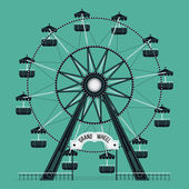 Ferris wheel old fashioned — Stock Vector