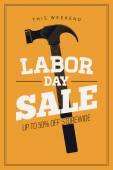'Labor Day Sale' - hammer — Stock Vector