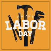 'Labor Day' with hand tools — Stock Vector