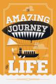 The Amazing Journey Of Life — Stock Vector