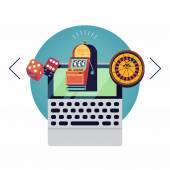 Online gambling layout — Stock Vector