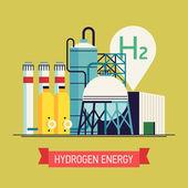 Hydrogen power source — Stock Vector