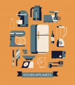 Essential kitchen appliances set — Stock Vector
