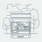 Bakery store facade — Stock Vector