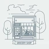 Shop grocery mini market — Stock Vector