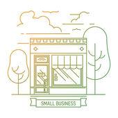 Mini-market piccolo negozio — Vettoriale Stock