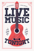 'Live Music Tonight'   poster — Stock Vector
