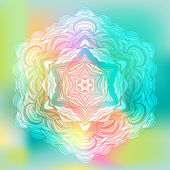 Abstract Flower Mandala. Decorative element for design — Stock Vector