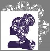 Woman beauty, bridal or fashion logo — Διανυσματικό Αρχείο