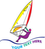 Windsurfing logo — Stock Vector