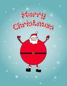 Christmas Concept: Santa arms wide open happly — Stock Vector
