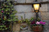 Światło na ścianie — Zdjęcie stockowe