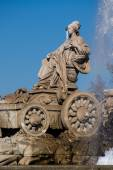 Famous monument of Fuente de Cibeles in Madrid — Stock Photo