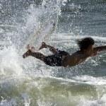 Surfer Surfboard Jump — Stock Photo #68806809