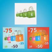 Cards on discounts. — Stockvector