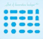 Set of decorative badges. — Stock Vector