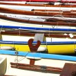 Colorful wooden boats — Stock Photo #53193617