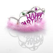 Pink birthday diadem — Stock Photo