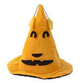 Orange fabric witch hat for Halloween — Stock Photo