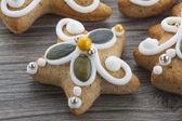 Biscoitos de gengibre de Natal — Fotografia Stock
