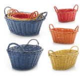 Multicolored wicker baskets — Stock Photo